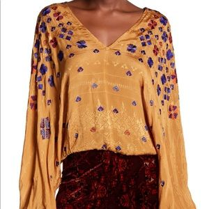 Free People Music In Time V-Neck Top